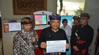 PELUNCURAN mesin Anjungan Dukcapil Mandiri (ADM) di Graha Sewaka Dharma Lumintang, Kota Denpasar, Kamis (27/2/2020).