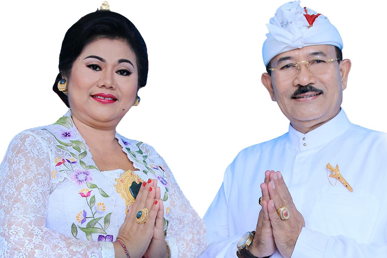 BUPATI Karangasem, IGA Mas Sumatri dengan Wakil Bupati, I Wayan Artha Dipa. Foto: nad