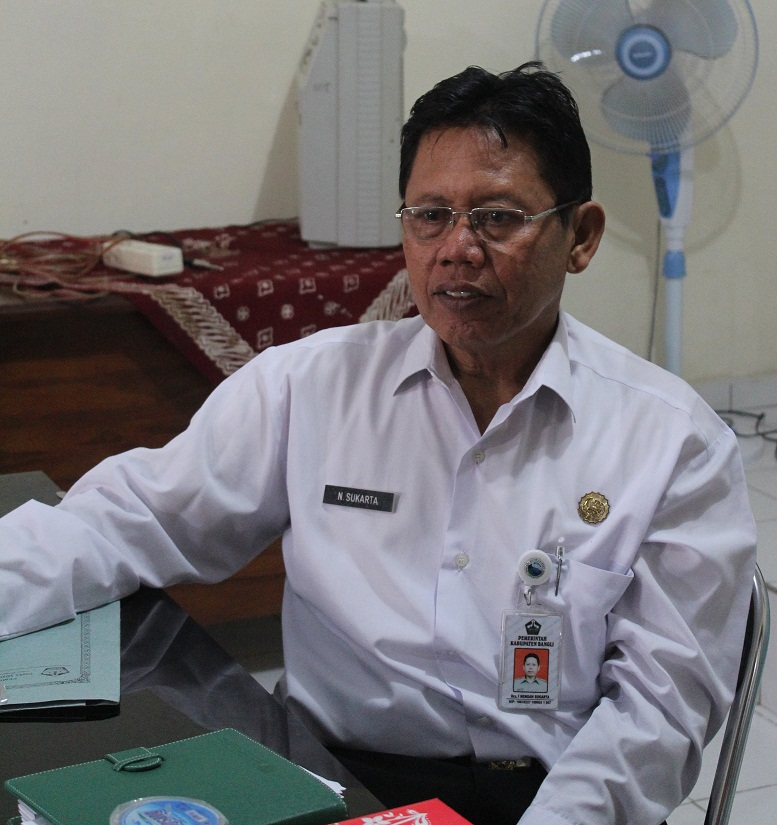 Kadisdikpora Bangli, I Nengah Sukarta. Foto: gia