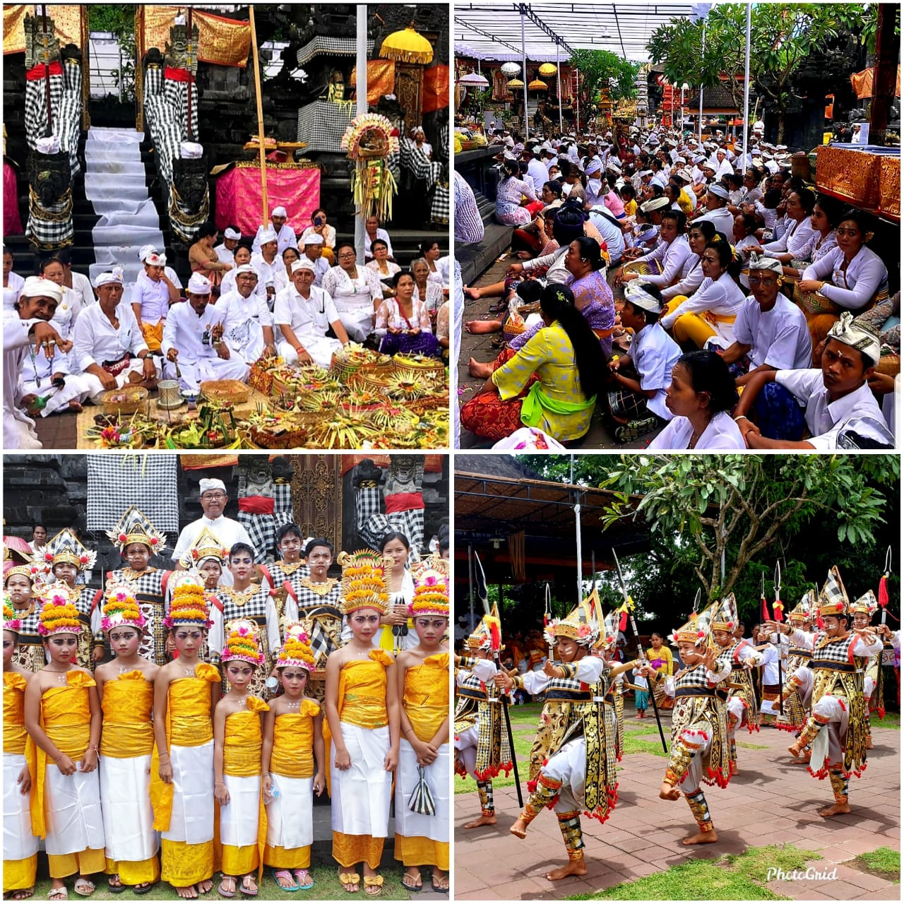 PUNCAK karya Pujawali lan Padudusan Agung di Pura Goa Lawah, Selasa (10/3/2020) dipadati pemedek. Foto: istimewa