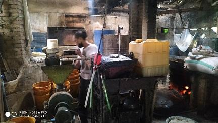 SALAH satu lokasi pembuatan tahu tempe di kawasan Banjar Umanyar, Desa Tamanbali, Bangli, Senin (20/4/2020). Foto: gia