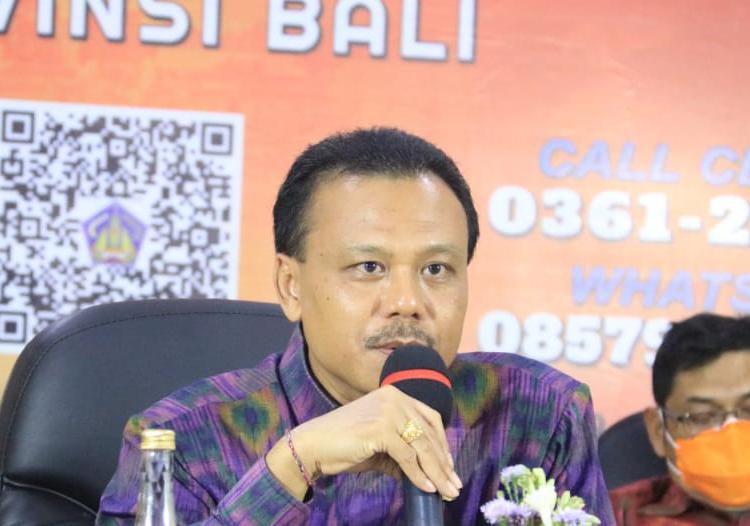 SEKDA Provinsi Bali selaku Kasatgas Penanggulangan Covid-19 Provinsi Bali, Dewa Made Indra. Foto: ist