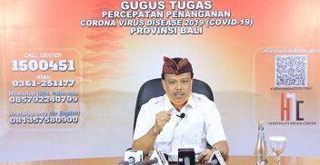 KETUA Harian Gugus Tugas Percepatan Penanganan Corona Virus Disease 2019 (Covid-19) Provinsi Bali yang juga Sekda Bali, Dewa Made Indra. Foto: ist