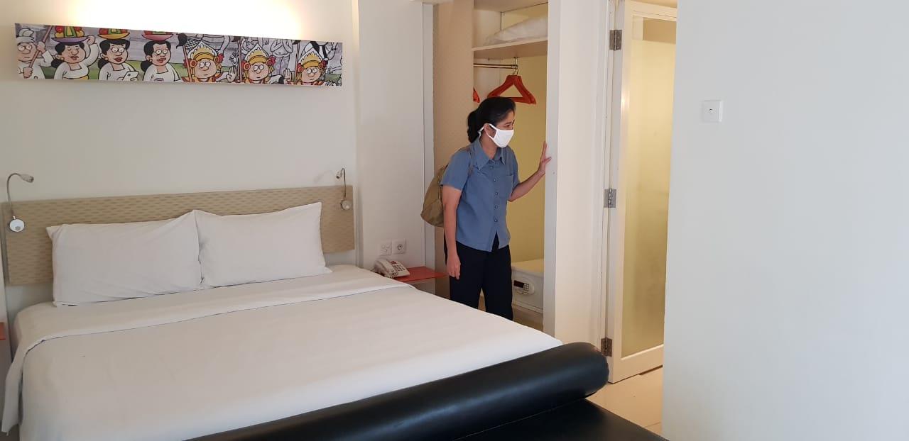 PEMKOT Denpasar menyiapkan 5 hotel berbintang bagi Pekerja Migran Indonesia (PMI) asal Denpasar yang telah tiba di Bali secara bergelombang. Foto: ist