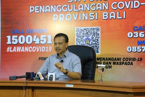 KETUA Satgas Penanggulangan Covid-19 yang juga Sekretaris Daerah Provinsi Bali, Dewa Made Indra. Foto: dokumen