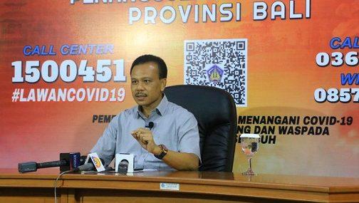 KETUA Harian Gugus Tugas Percepatan Penanganan Covid-19 Provisni Bali, Dewa Made Indra. Foto: ist
