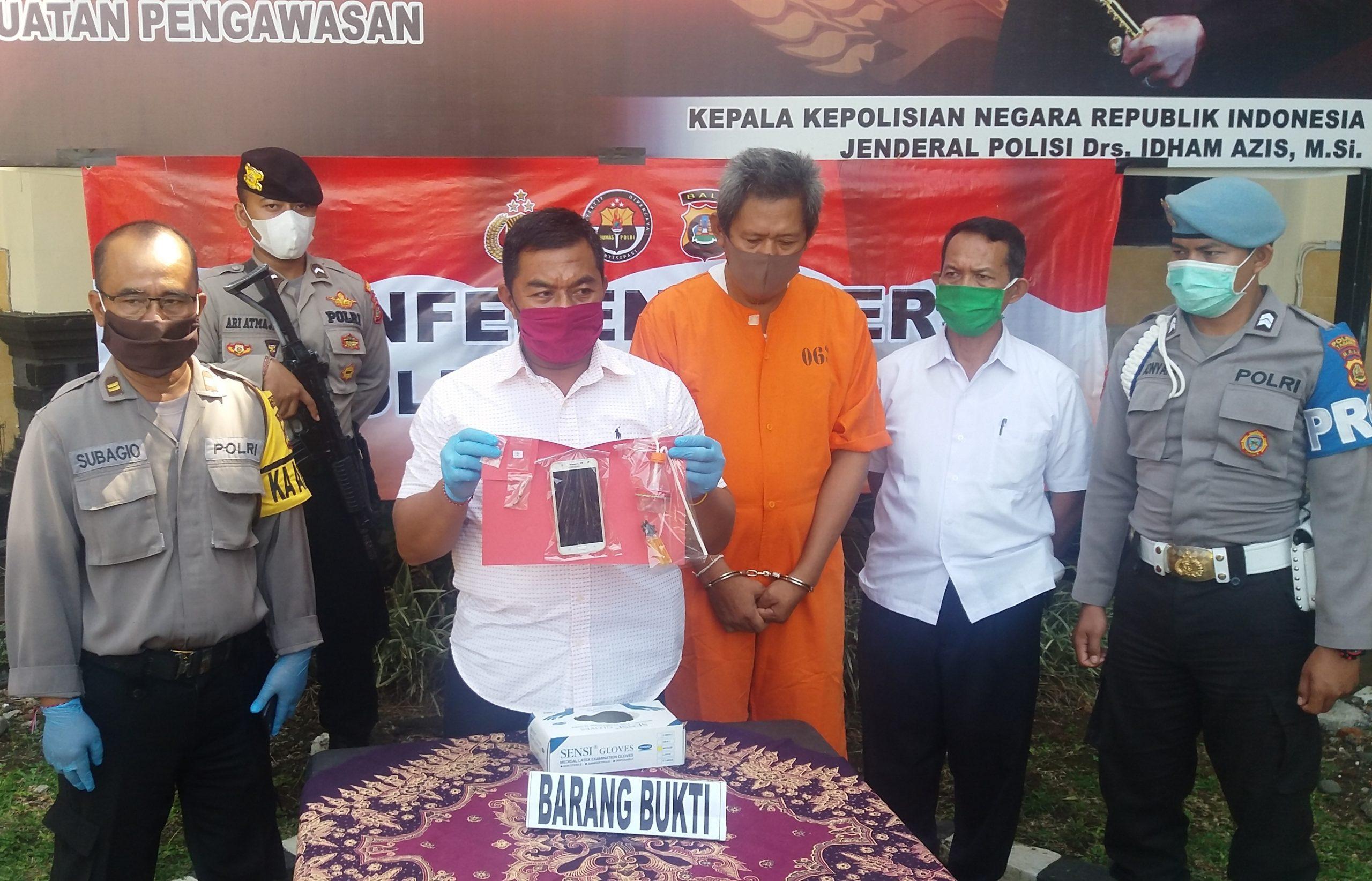 POLRES Tabanan menggeber kasus narkoba dengan tersangka Gede Bhasma Bhaskara alias Dek Bas, berikut sejulah barang bukti terkait, Senin (11/5/2020). Foto: gagah