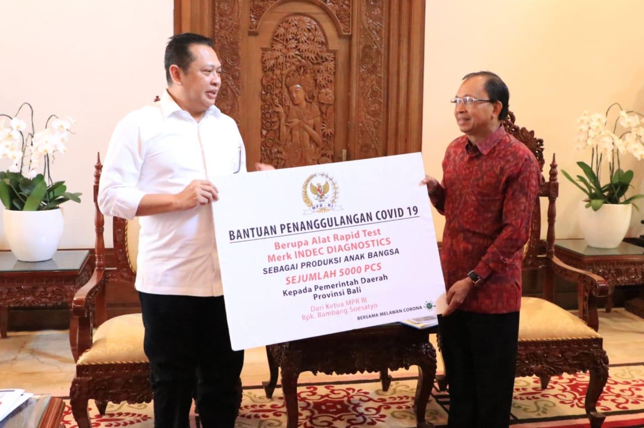 Ketua MPR RI Bantu Bali 5.000 Alat Rapid Test