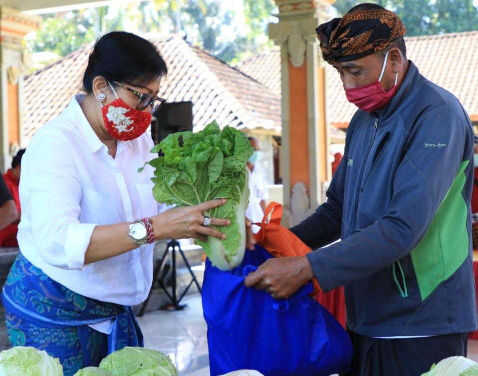 'PENGGAK PKK' yang dicetuskan Ketua Tim Penggerak PKK Provinsi Bali, Putri Suastini Koster, hadir menyapa warga di Desa Susut, Kabupaten Bangli. Foto: ist