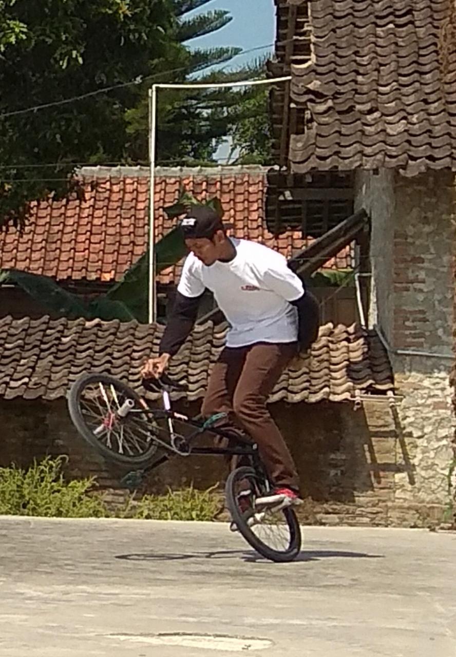 STEFANUS Bayu yang menjuarai kompetisi BMX virtual pertama di Indonesia. Foto: ist