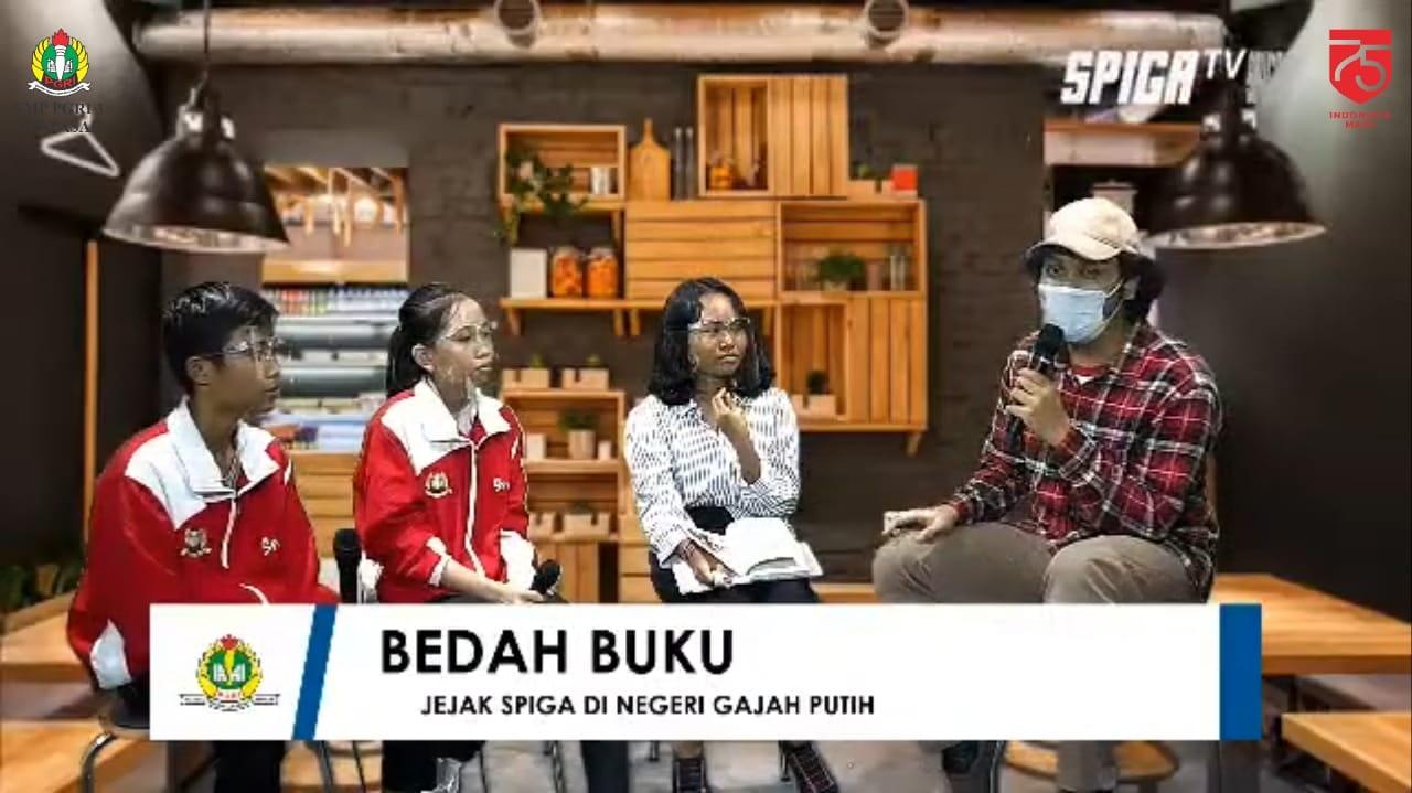 """ACARA peluncuran dan bedah buku """"Jejak Spiga di Negeri Gajah Putih"""" secara virtual pada channel youtube SMP PGRI 3 Denpasar pada 17 Agustus 2020. Foto: ist"""