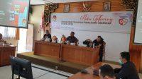RIUNG media di KPU Bali dengan membincang persiapan Pilkada 2020, Jumat (7/8/2020). Foto: gus hendra