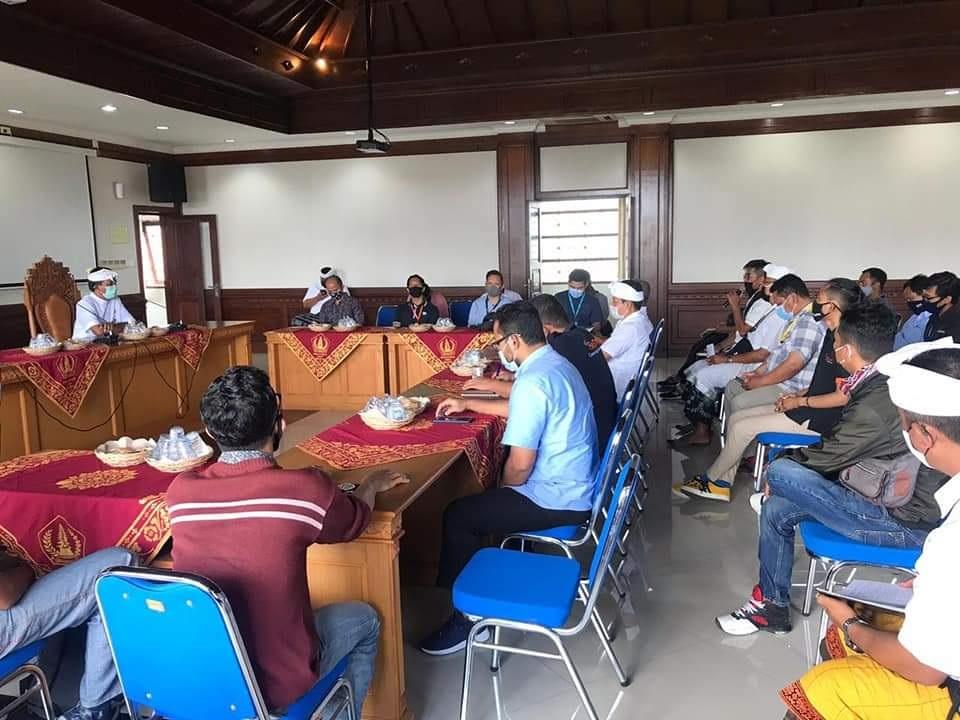 Foto: 02374 Badung Rapat Kordinasi CAMAT Kutsel saat berkoordinasi dengan Apjatel di wilayah Kutsel. Foto: ist