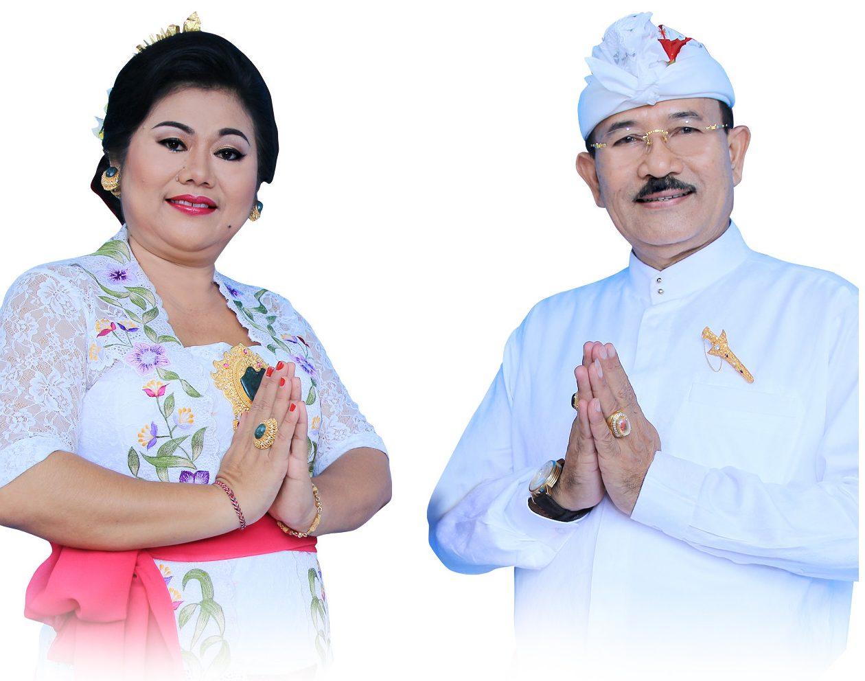 BUPATI Karangasem, IGA Mas Sumatri; bersama Wabup I Wayan Artha Dipa. Foto: ist