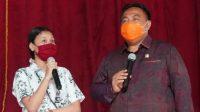 I Nyoman Parta sosialisasikan 4 Pilar Kebangsaan RI di SMKN 3 Sukawati, Rabu (30/9/2020). Foto: adi
