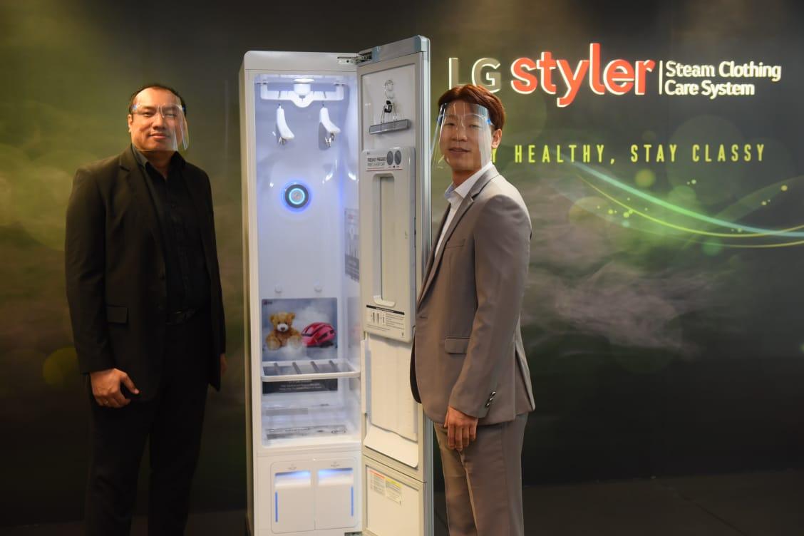 KONFERENSI pers secara virtual peluncuran LG Styler pada Senin (28/9/2020). Foto: ist