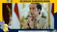 PRESIDEN RI, Joko Widodo, mengucapkan selamat Dies Natalis ke-58 Universitas Udayana, Selasa (29/9/2020). Foto: ist