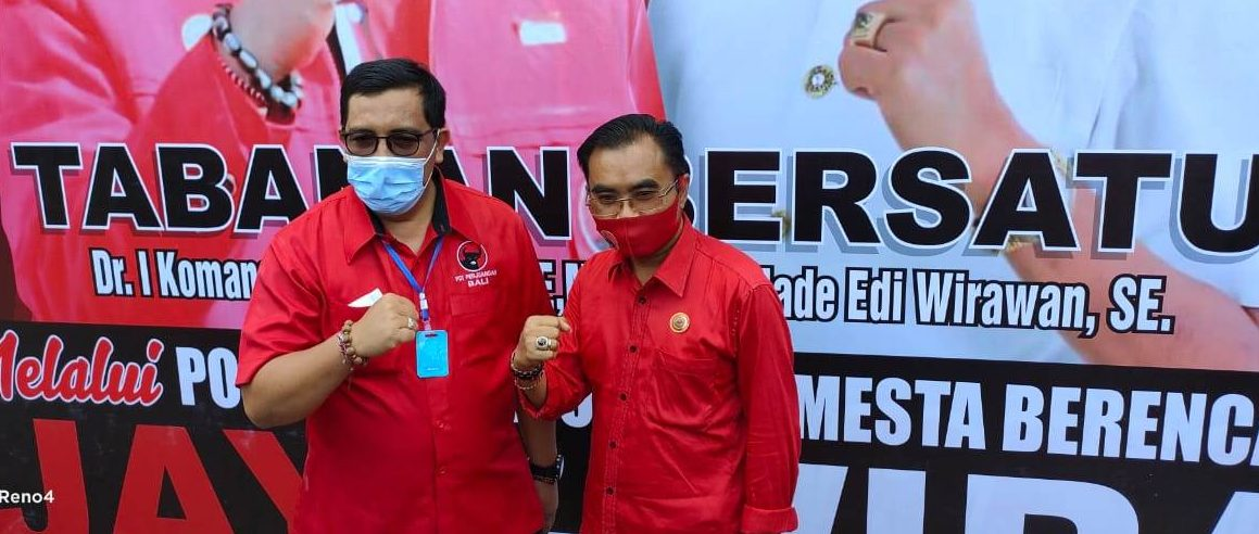PAKET Jaya-Wira yang diusung PDIP Tabanan, menyatakan kesiapannya melangkah maju ke Pilkada Tabanan 2020. Foto: gagah