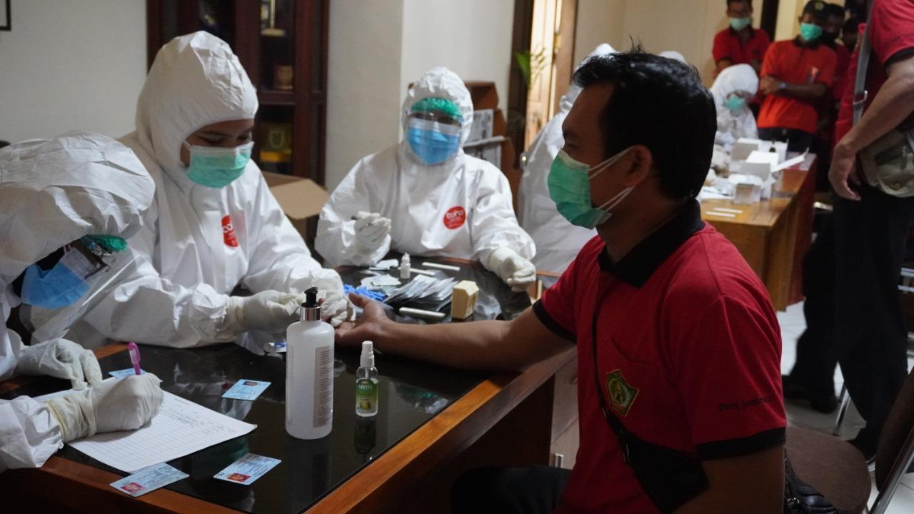 TES cepat massal di sejumlah OPD di Lingkup Pemkab Jembrana. Foto: man