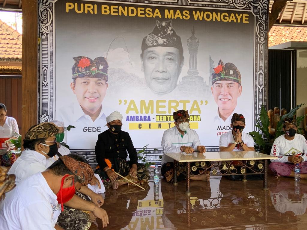 PAKET Amerta saat pembukaan Amerta Center sebagai rumah aspirasi dan perjuangan di Pilkada Denpasar, Jumat (11/9/2020). Foto: gus hendra