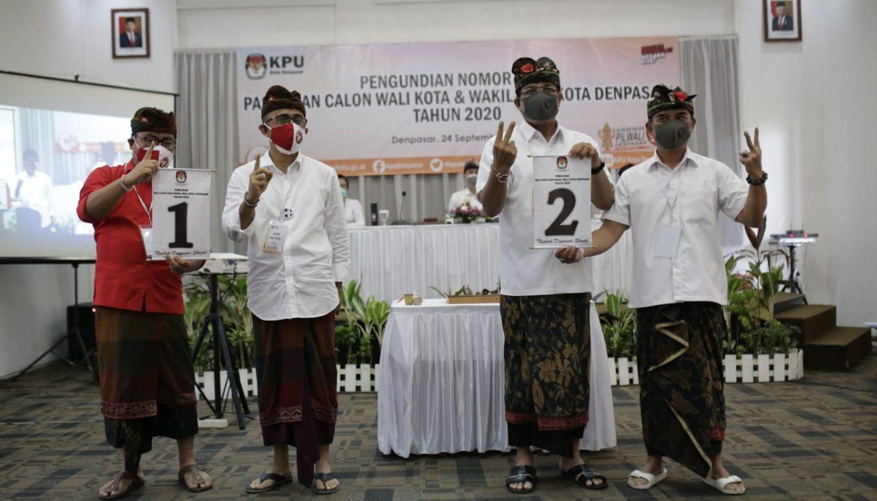 PASLON Jaya-Wibawa dengan nomor urut 1 dan paslon Amerta dengan nomor urut 2. Foto: Ist