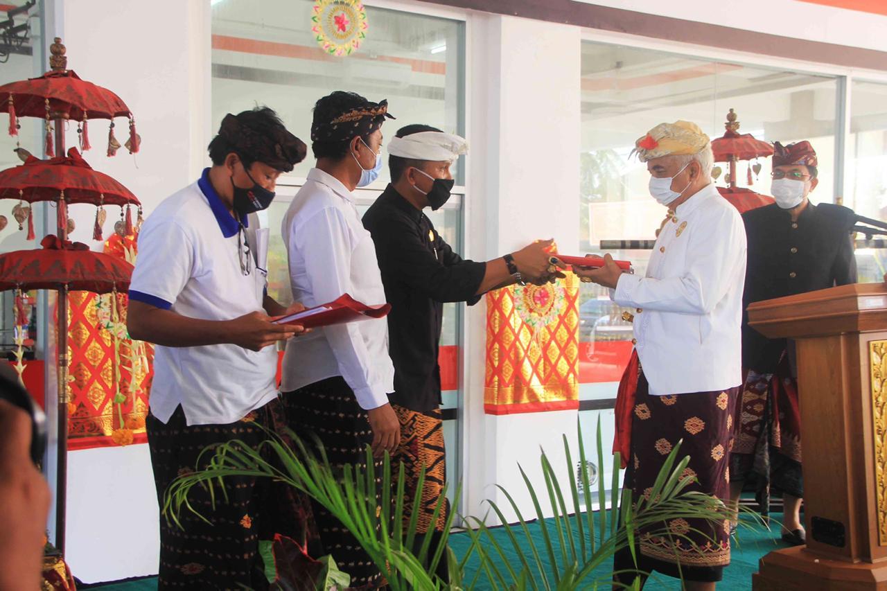 ACARA pembukaan Toko Tenten Mart, Desa Adat Tanjung Benoa, Kuta Selatan, Badung, Minggu (11/10/2020). Foto: ist