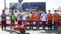 KEMENPAREKRAF menggelar kegiatan Semangat Gerakan BISA di Pantai Goa Lawah, Kecamatan Dawan, Kabupaten Klungkung, Sabtu (17/10/2020). Foto: ist