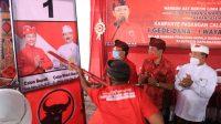 DANA-Dipa Bersama I Wayan Koster saat kampanye di Nongan, Rendangan, Karangasem, Minggu (18/10/2020). Foto:Ist