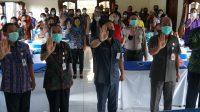SEKDA Karangasem bersama pengampu kepentingan dalam penyuluhan pencegahan penyakit masyarakat terhadap generasi muda Karangasem. Foto: Ist