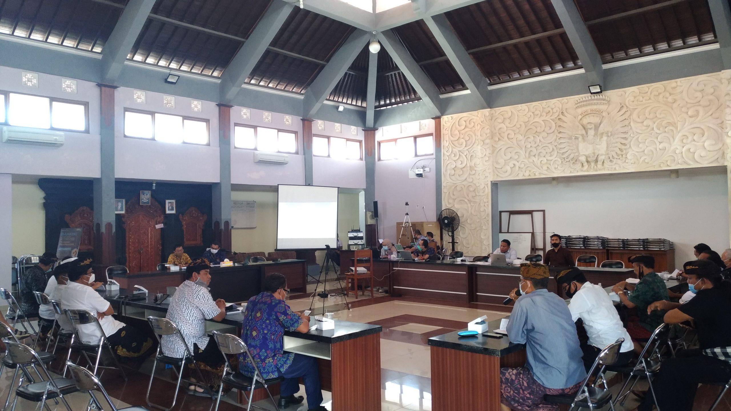 SUASANA FGD pengumpulan informasi realisasi Rencana Pengelolaan dan Zonasi (RPZ) di Kawasan Konsevasi Maritim (KKM) Teluk Benoa, Selasa (29/9/2020). Foto: ist