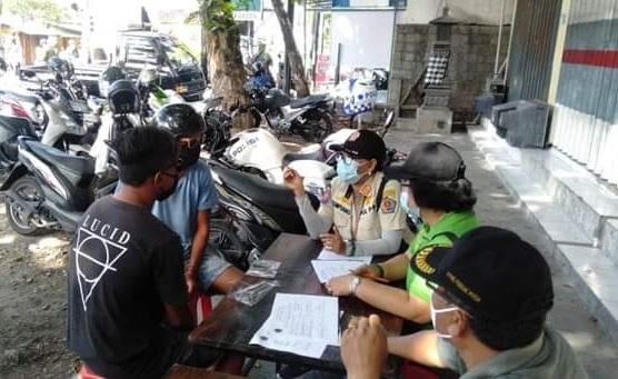 OPERASI yustisi protokol kesehatan pencegahan Covid-19 di Kota Denpasar, Rabu (18/11/2020). Foto: ist