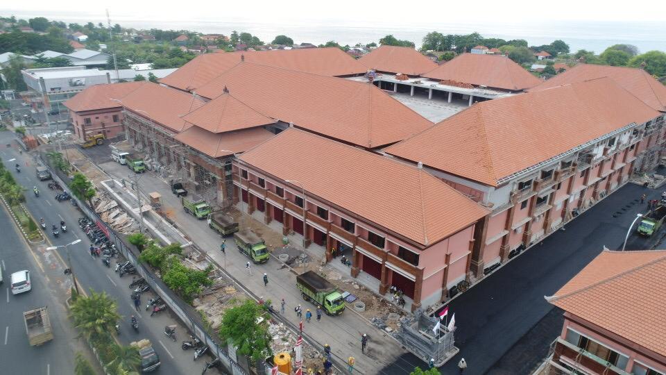 BANGUNAN revitalisasi gedung Pasar Banyuasri, yang berada di Kelurahan Banyuasri. Foto: ist
