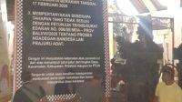BALIHO penolakan perarem di depan Balai Banjar Delod Peken, Desa Keramas, Kecamatan Blahbatuh, Gianyar. Foto: adi