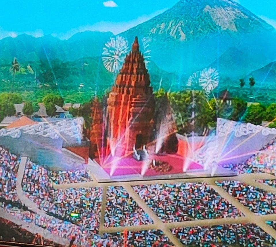 MAKET Pusat Kebudayaan Bali yang akan dibangun di Klungkung. Foto: ist