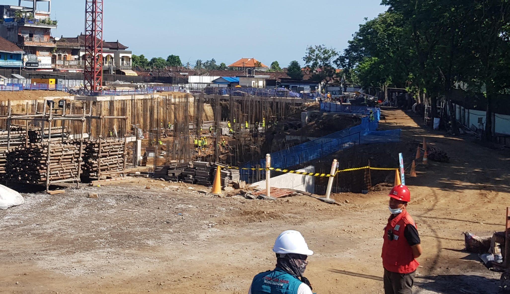 PROYEK pembangunan Pasar Umum Gianyar. Foto: adi