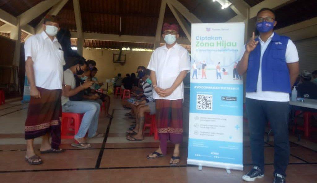 PARA saksi Jaya Wibawa menjalani tes cepat Covid-19 sebagai upaya untuk menskrining kesehatan mereka sebelum bertugas di TPS pada 9 Desember mendatang. Foto: ist