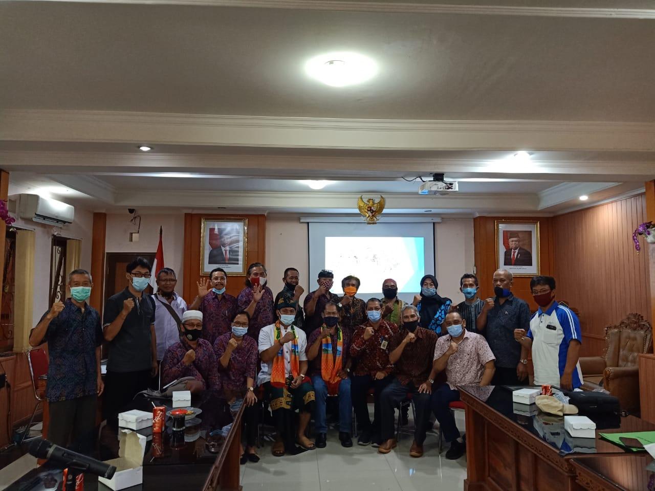 FORUM Pembauran Kebangsaan (FPK) Kota Denpasar menerima kunjungan dari FPK Kabupaten Belitung, Jumat (13/11/2020). Foto: ist