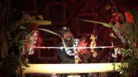 PENAMPILAN kesenian wayang inovatif yang dibawakan oleh Sanggar Genta Wisesa serangkaian Denfest ke-13 pada Rabu (25/11/2020). Foto: ist