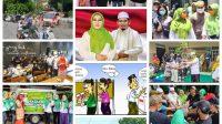 KALAIDOSKOP atau kilas balik jejak kampanye Salam melangkah menang di Pilkada Kota Mataram. Foto: ist