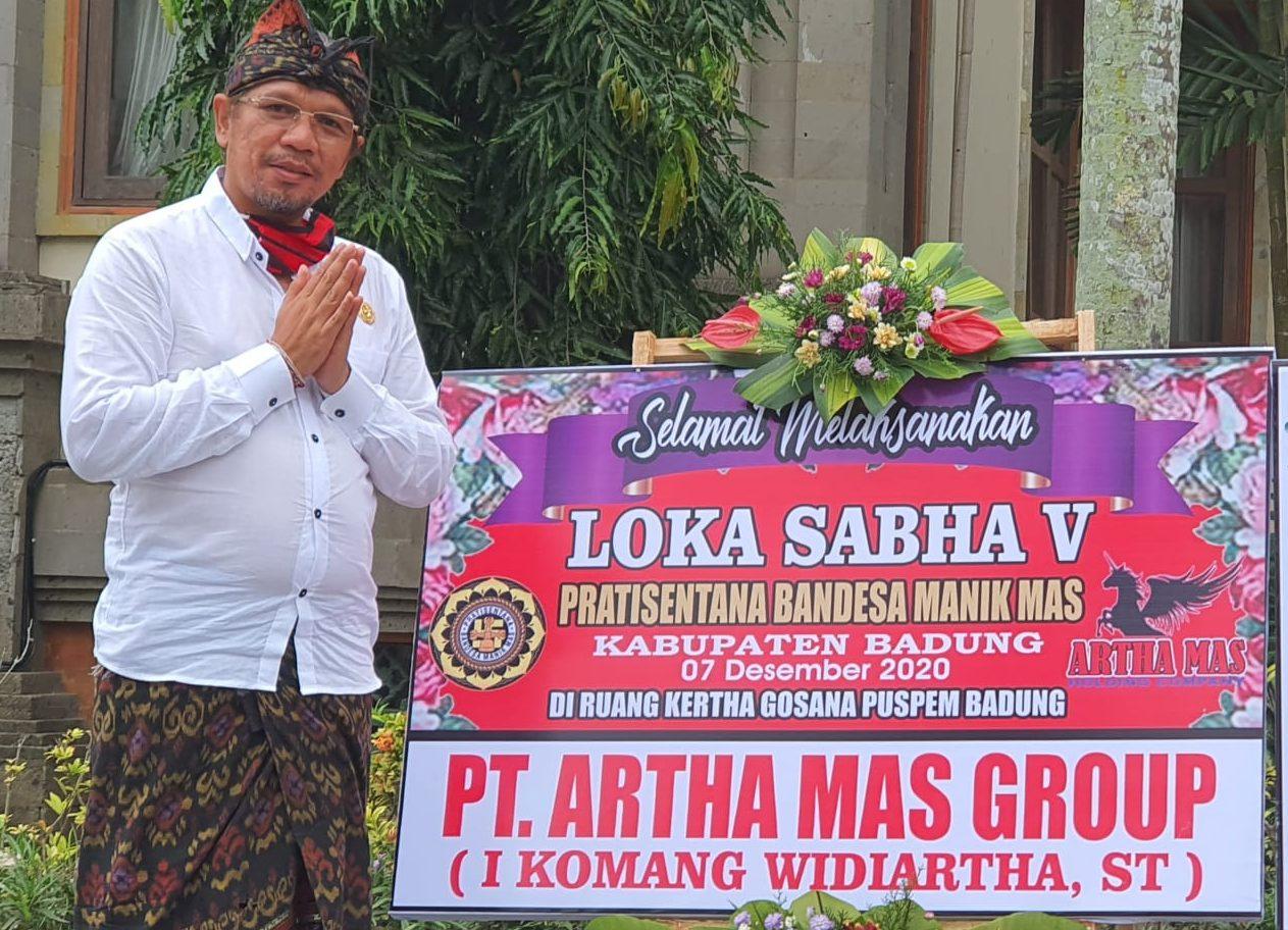 KOMANG Widiarta terpilih secara aklamasi sebagai Ketua Partisentana Bendesa Manik Mas (PBMM) Kabupaten Badung. Foto: nas