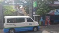 MOBIL Calling rutin melakukan sosialisasi prokes di titik-titik keramaian di Kota Denpasar. Foto: ist