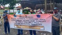 PENGUMUMAN mulai 1 Januari 2021 masyarakat Kota Denpasar wajib memilah sampah sebelum dibuang ke TPS. Foto: ist