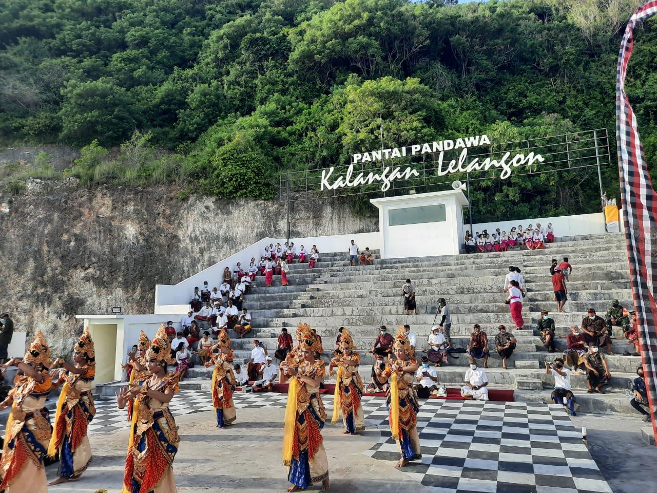 PEMBUKAAN acara pandawa bangkit yang dihadiri oleh Plt Kadisparda Badung. Foto: ist