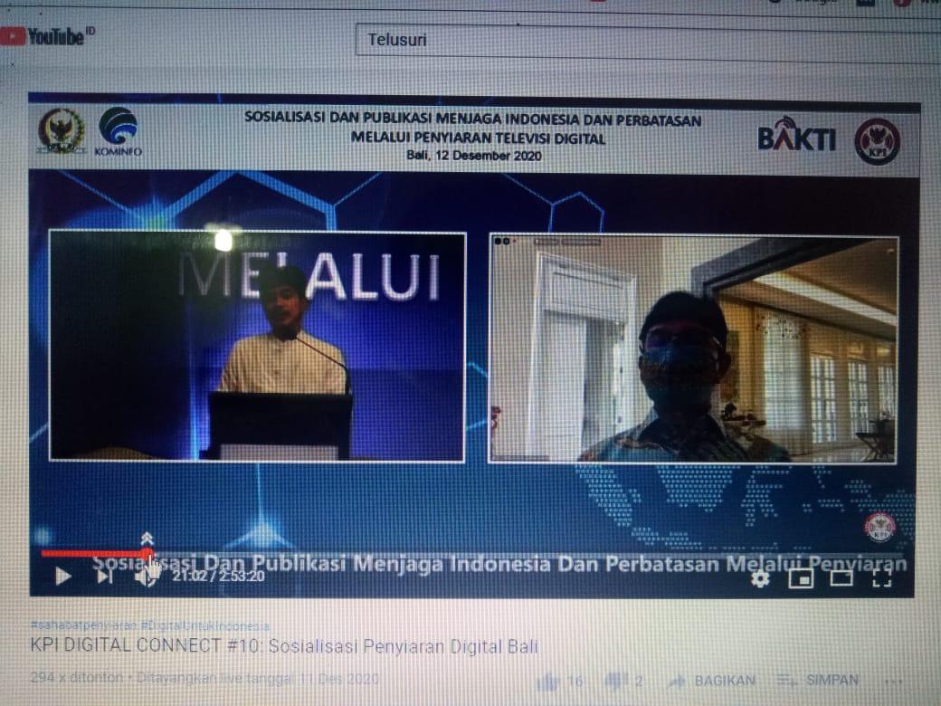 """SOSIALISASI dengan tema """"Menjaga Indonesia dan Perbatasan Melalui Penyiaran Televisi Digital"""" di Jimbaran, Sabtu (12/12/2020). Foto: ist"""