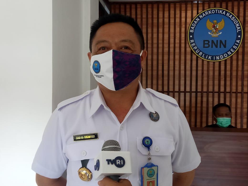 KEPALA BNN Kota Denpasar, Sang Gede Sukawiyasa. Foto: tra