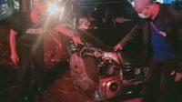 MOBIL Suzuki Grand Vitara nopol DK 1350 QG ringsek di bagian depan, setelah menghantam pemotor hingga tewas, di Jalan Bypass Dr. Ir. Soekarno, Kediri, Tabanan, Selasa (1/12/2020) petang. Foto: ist