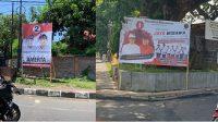 BALIHO paslon di luar difasilitasi KPU yang masih bercokol di tempatnya tanpa tersentuh penertiban. Paslon Jaya Wibawa dan Amerta sepakat membersihkan APK mereka pada akhir tahapan kampanye dan memasuki masa tenang. Foto: hen