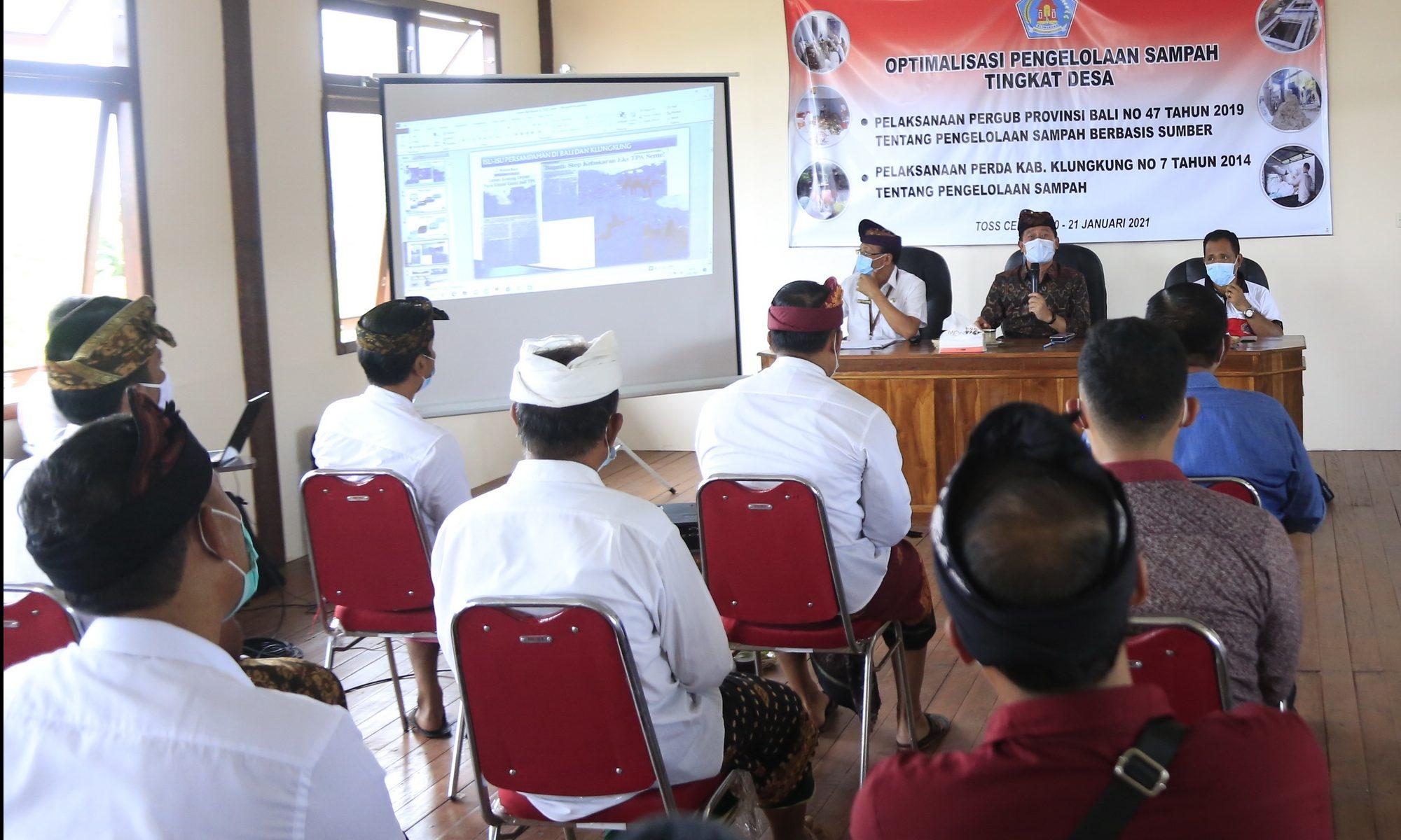 Bupati Suwirta Minta Perbekel-Lurah Komitmen Dukung Program TOSS Center