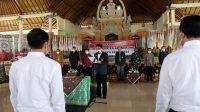 PELANTIKAN pengurus KONI Kabupaten Klungkung masa bakti 2020-2024 yang dikukuhkan Ketua KONI Bali, I Ketut Suwandi, di Balai Budaya Ida Dewa Agung Istri Kanya, Senin (18/1/2021). Foto: ist