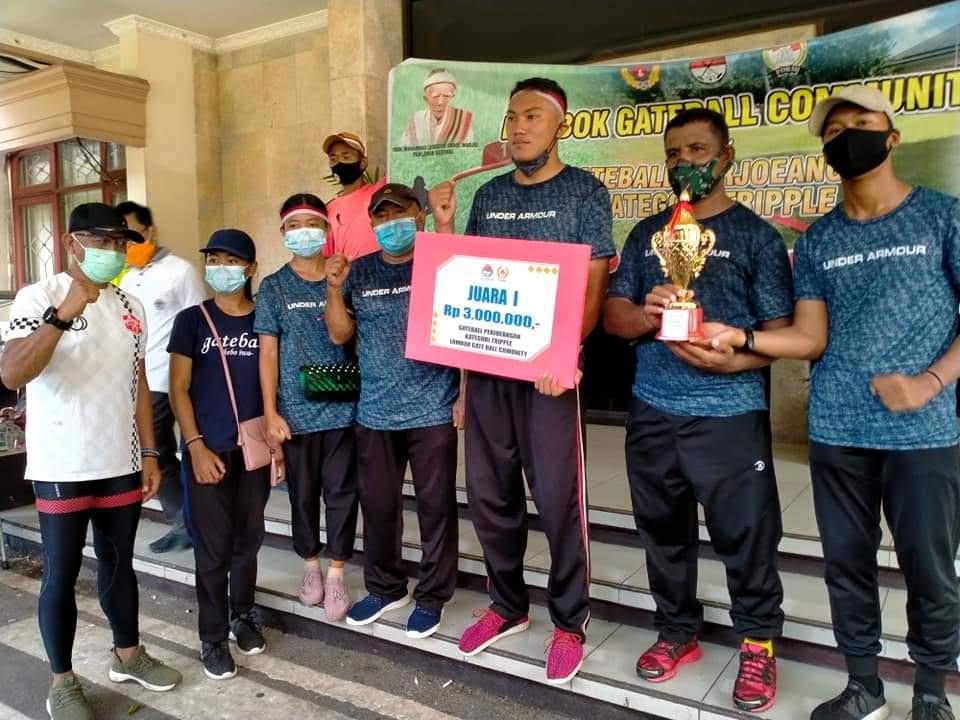 GATEBALL Gianyar saat meraih juara I di ajang Lombok Gateball Competition. Foto: ist